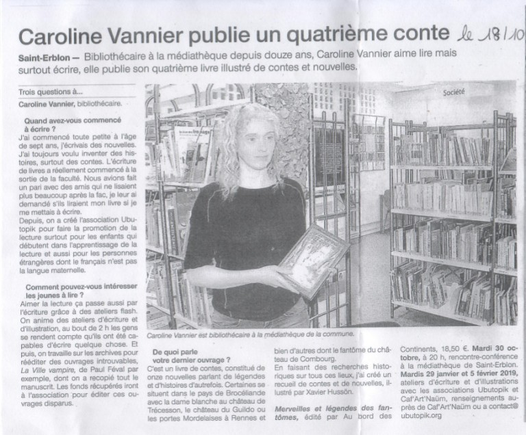 Article Ouest-France 18 octobre 2018